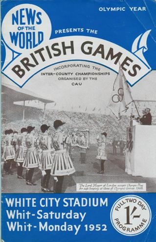 1952-British-Games-athletics-memorabilia-white-city-stadium-london-programme-news-of-the-world-roger-bannister-chris-chataway-macdonald-bailey-arthur-wint