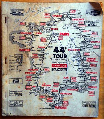 Alex Virot autograph signed 1957 Tour de France Media Guide Cycling memorabilia death