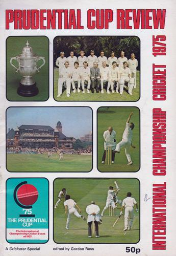 1975-CRICKET-WORLD-CUP-review-PROGRAMME-PRUDENTIAL-Cup-International-Championship-England-cricket-memorabilia-brochure