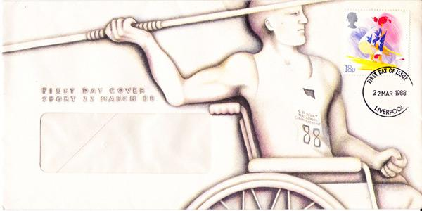 1988-Paralympic-First-Day-Cover-FDC-Special-Olympics-FDC-Javelin-memorabilia-600