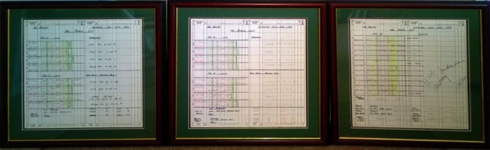 1993 Ryder Cup Golf Official BBC Scorecards Framed signed Peter Alliss Alex Hay Bruce Critchley Dave Marr