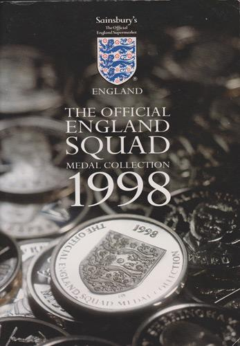 1998-Official-England-World-Cup-Medal-Collection-booklet-Sainsburys-Glenn-Hoddle-Paul-Gascoigne-Football-memorabilia-France-98-Seaman-David-Beckham-Owen-Shearer