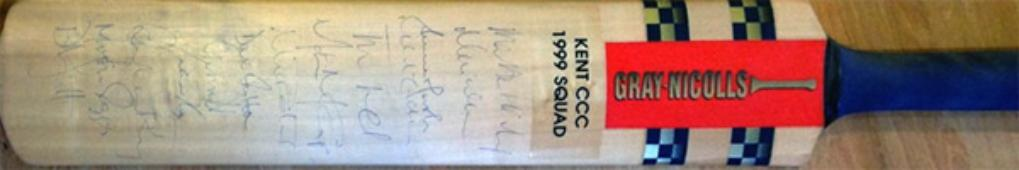 1999-Kent-cricket-memorabilia-club-signed-gray-nicolls-bat-full-size-KCCC-squad-autograph-fleming-ealham-rob-key-fulton-ed-smith-marsh-saggers-spitfires