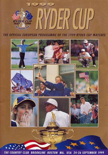 1999 Ryder Cup Golf Official Programme Country Club Brookline