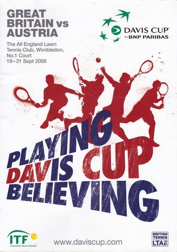 2008-davis-cup-tennis-memorabilia-great-britain-v-austria-programme-all england club wimbledon-lta