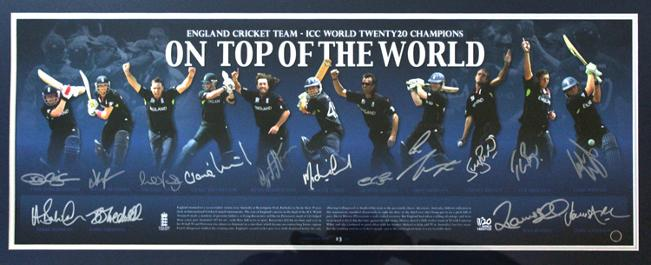 2010-World-T20-England-cricket-memorabilia-player-poster-Kevin Pietersen autograph collingwood signature- swann morgan