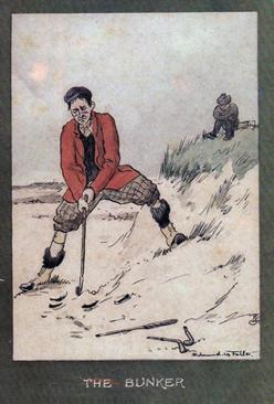 4-Golfing-memorabilia-Edmund-G-Fuller-golf-prints-1903-antique-vintage-coloured-cartoon-humour-golfer-edwardian-the-bunker