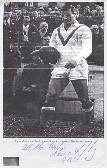 ALEX MURPHY memorabilia signed Rugby League magazine pic Great Britain rugby memorabilia