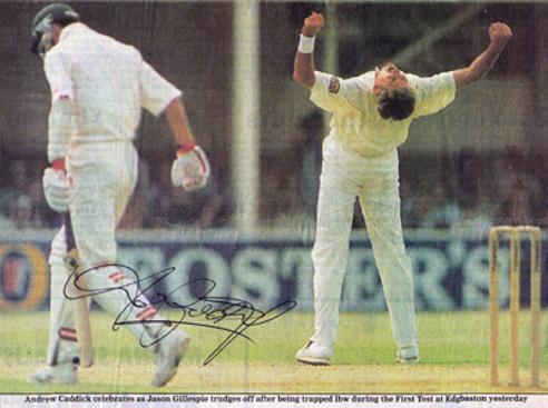 ANDY-CADDICK-autograph-signed-Somerset-cricket-memorabilia-England-Test-match-fast-bowler-ccc-australia-ashes-jason-gillespie
