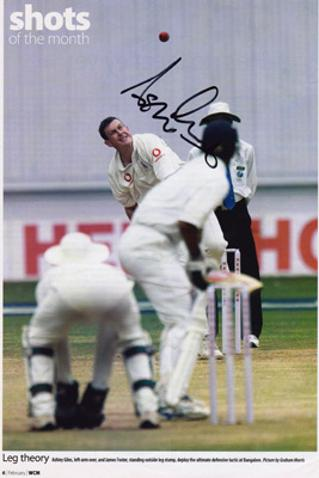 ASHLEY-GILES-autograph-signed-Warks-cricket-memorabilia-warwickshire-king-of-spin-England-test-match-spinner-selector-wccc-bangalore-negative