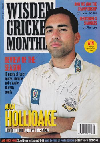Adam-Hollioake-autograph-signed-Surrey-CCC-Cricket-memorabilia-1997-Wisden-monthly-mag-cover