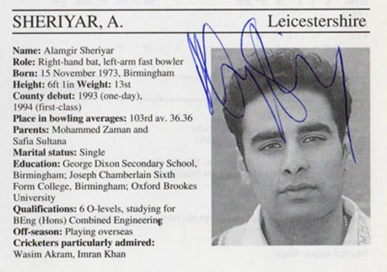 Alamgir-Sheriyar-autograph-signed-leicestershire-cricket-memorabilia-leics-ccc-batsman-whos-who-signature