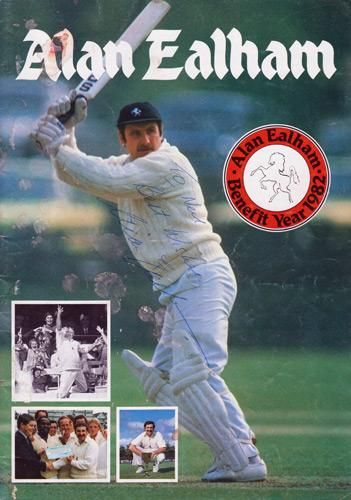 Alan-Ealham-autograph-signed-Kent-cricket-memorabilia-KCCC-spitfires-county-1982-benefit-year-testimonial-brochure-signature-flying-pig