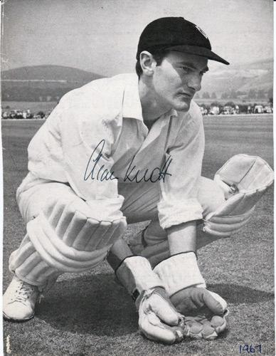 Alan-Knott-autograph-Kent-cricket-memorabilia-signed-pic-photo-Spitfires-KCCC-wicket-keeper-England-Knotty-APE-Knott