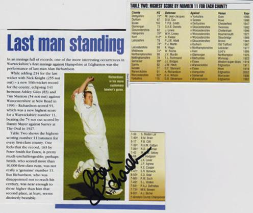 Alan-Richardson-autograph-signed-Middlesex-cricket-memorabilia-Middx-CCC-county-bowler