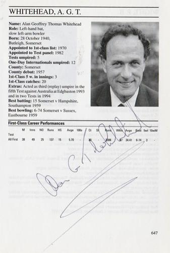 Alan-Whitehead-autograph-signed-somerset-cricket-memorabilia-umpire-whos-who-signature