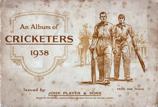 Album-of-Cricketers-1938-John-Player-and-sons-cigarette-cards-cricket-memorabilia-Don-Bradman-Les-Ames-Hammond-Hutton-England-Australia-players-complete