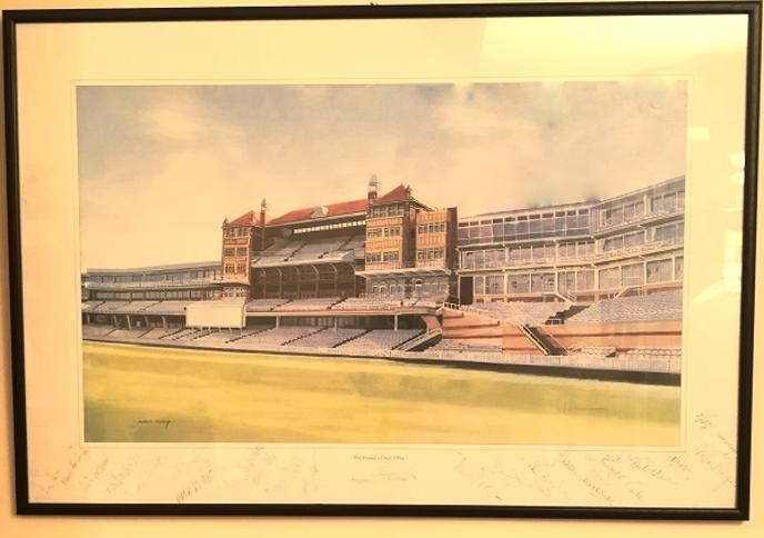 Alec Stewart autograph signed surrey cricket memorabilia 1994 benefit season testimonial fosters oval print artist robert perry