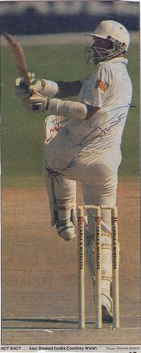 Alec-Stewart-autograph-signed-Surrey-CCC-Cricket-memorabilia-England-test-match-West-Indies
