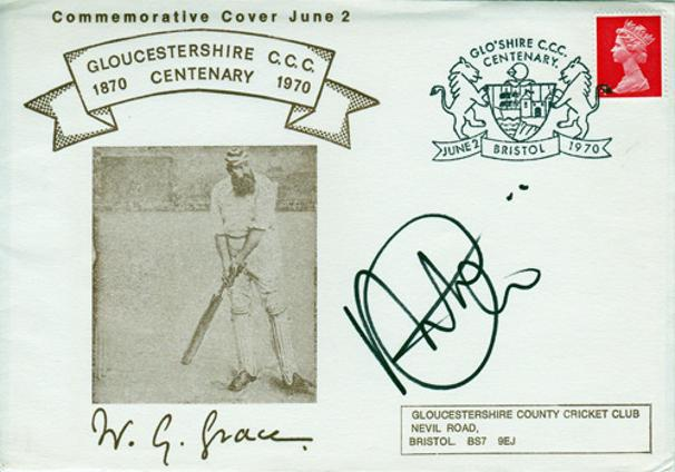Alex-Gidman-autograph signed Gloucs CCC cricket memorabilia signed-wg-Grace-FDC-first day cover-signature