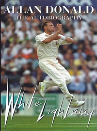 Allan-Donald-autograph-signed-white-lightning-autobiography-book-south-africa-cricket-memorabilia-warks-ccc-first-edition-hardback-1999
