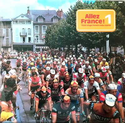 Allez-France-BBC-French-Language-Course-Learning-LP-album-record-Cycling-memorabilia-tour-de-france