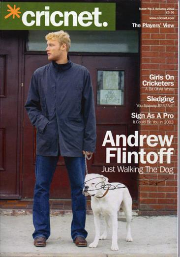 Andrew Freddie Flintoff signed cricnet cricket mag cover