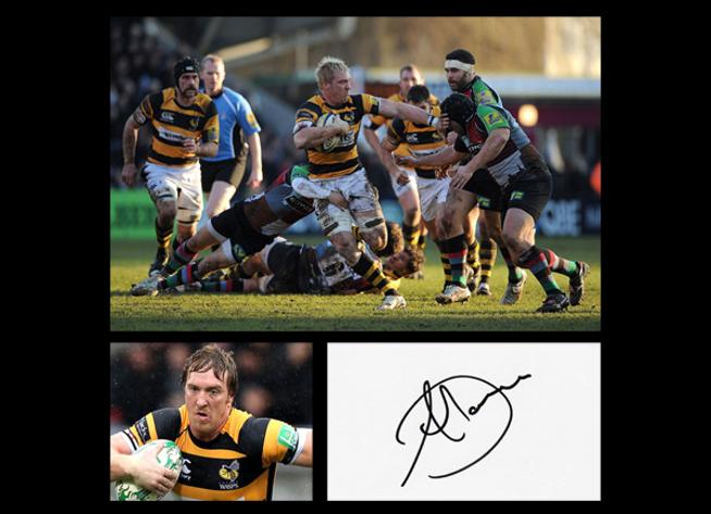 Andy-Powell-Autograph-signed-Wasps-rugby-union-memorabilia-Wales-Cardiff-rfc-flanker-signature