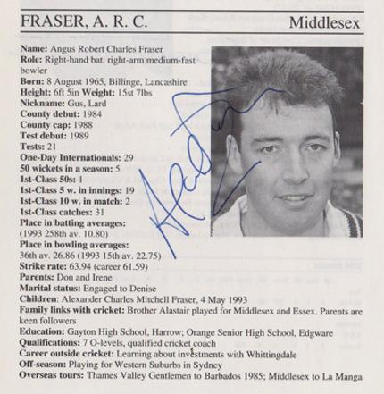 Angus-Fraser-autograph-signed-middlesex-cricket-memorabilia-signature-middx-ccc-gus-england-fast-bowler-coach-1995-county-cricketers-whos-who