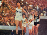 ANN PACKER (1964 Olympic 800m champion) hand-signed picture.