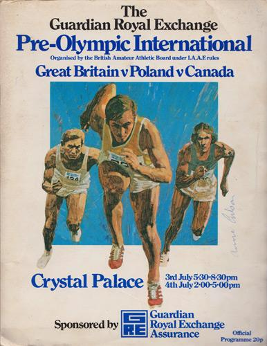 Anne-Gilson-autograph-signed-Great-Britain-arthletics-memorabilia-high-jump-1976-olympic-programme-crystal-palace-signature