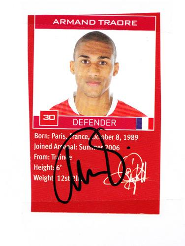 Armand-Traore-autograph-signed-Arsenal-FC-football-memorabilia-biopic-Gunners-France