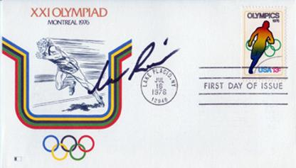 ARNIE ROBINSON (USA) (1976 Olympic Long Jump champion) Hand-signed Montreal Olympics FDC
