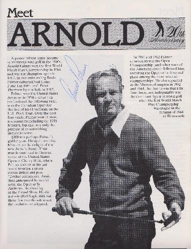 Arnold Palmer autograph signed 1983 suntory world matchplay programme wentworth arnie golf memorabilia signature