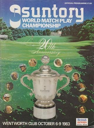 Arnold Palmer autograph signed 1983 suntory world matchplay programme wentworth golf memorabilia signature arnie