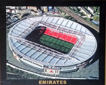 Arsenal FC memorabilia Emirates Stadium framed aerial photo