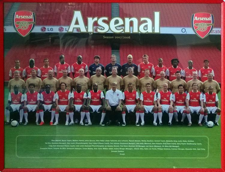 Arsenal Football memorabilia team photo