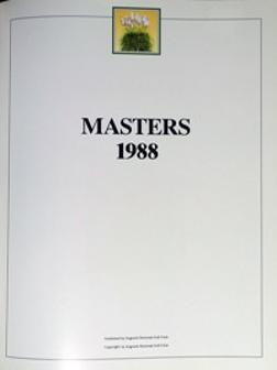 Augusta-Masters-1988-nineteen-hundred-eighty-eight-george-peper-sandy-lyle-memorabilia-green-jacket-us-masters-golf-memorabilia-1st-edition-book-augusta-national-golf-club