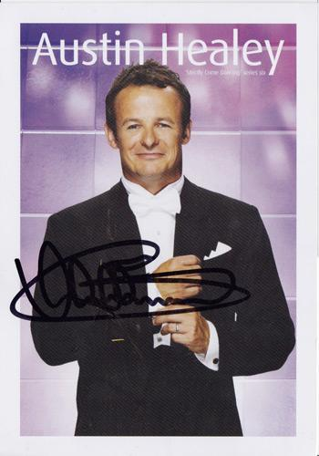 Austin-Healey-memorabilia signed-Strictly-Come-Dancing-promo-card-rugby memorabilia