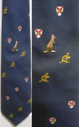 Australia-rugby-memorabilia-wallaby-tie-pin-Aussie-Australian-rugby-union-blue-gold-allez-MCM-neck-tie-clothing-Wallabies-rugby-rugger