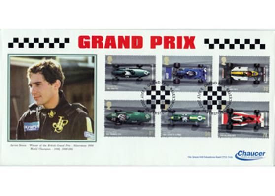 AYRTON SENNA memorabilia British Grand Prix First Day Cover formula one memorabilia