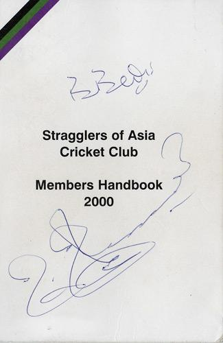 BISHAN-BEDI-autograph-MUSHTAQ-MUHAMMAD-signature-signed-Stragglers-Asia-Members-Cover-india-cricket-memorabilia-pakistan