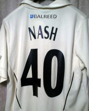 BRENDAN-NASH-memorabilia-Brendan-Nash-autograph-signed-Kent-cricket-memorabilia-KCCC-zip-up-Balreed-Cardy-Samurai-cricket-shirt-number-40-Australia-West-Indies