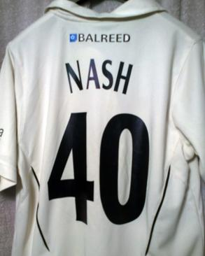 BRENDAN-NASH-memorabilia-Brendan-Nash-autograph-signed-Kent-cricket-memorabilia-KCCC-zip-up-Balreed-Cardy-Samurai-cricket-shirt-number-40-West-Indies-Australia