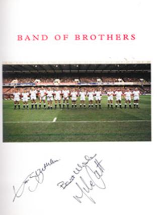 Band-of-Brothers-England-Rugby-Union-memorabilia-1996-Frank-Keating-signed-copy-Mike-Catt-Jon-Sleightholme-autograph-200