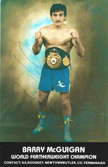 Barry-McGuigan-autograph-signed-world-featherweight-boxing-champion-memorabilia-clones-cyclone-northern-ireland-irish-promoter-signature
