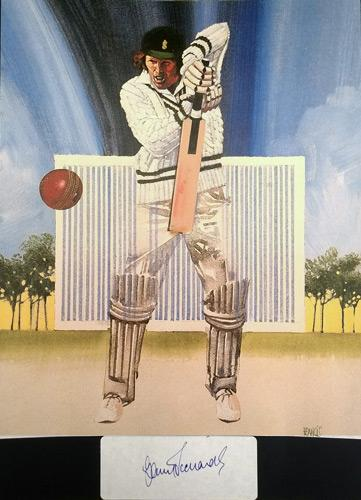 Barry-Richards-autograph-signed-cricket-memorabilia-Hampshire-CCC-South-Africa-Hants-WSC-John Ireland print