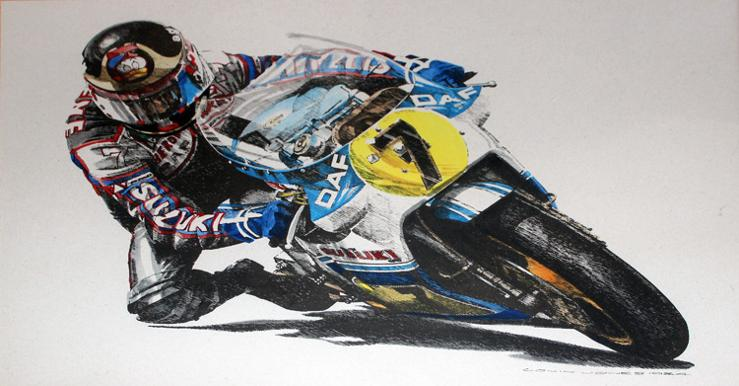Barry-Sheene-memorabilia-motorbike-limited-edition-print-Colin-Jones-artwork-Superbike-motor-cycling-Moto-GP-memorabilia-750