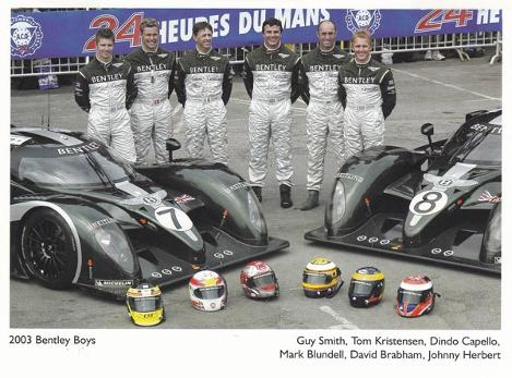 Bentley-boys-2003-Le-Ma-Mans-memorabilia-signed-photo-Smith-Kristensen-Capello-Blundell-Brabham-autograph-Herbert-Motor-racing-Number-8-7