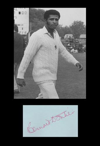 Bernard Julien memorabilia bernard julien autograph signed Kent cricket memorabilia West Indies cricket Trinidad and Tobago KCCC Kerry Packer World Series Cricket